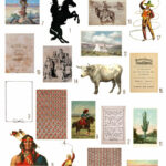 vintage American West ephemera digital image bundle