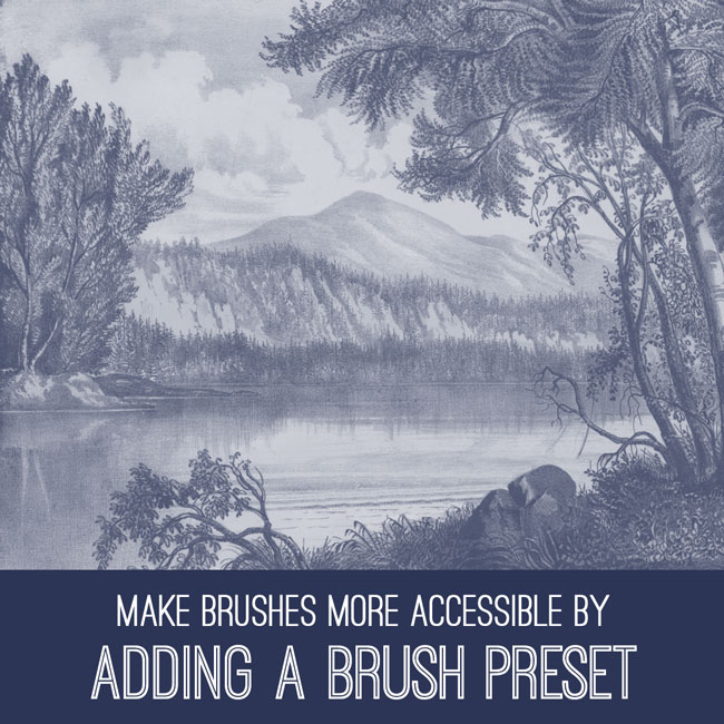 PSE Tutorial adding a brush preset