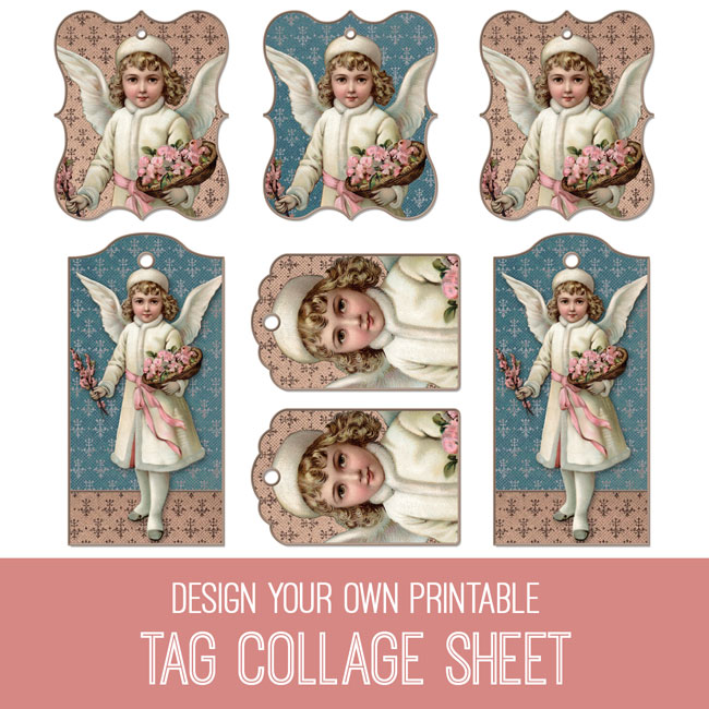 PSE tutorial design your own printable tag collage sheet