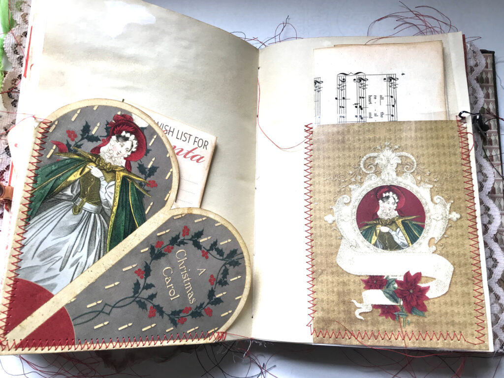 ornament cone journal pocket page