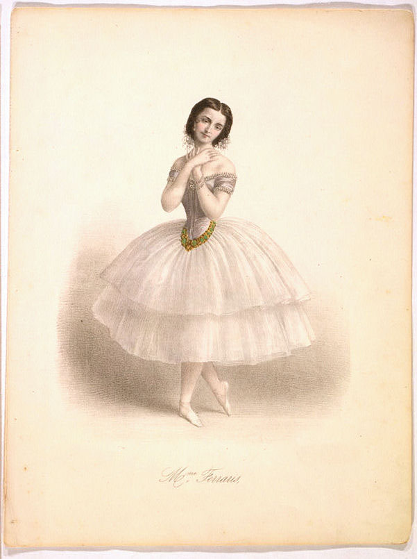 beautiful ballerina white dress color illustration