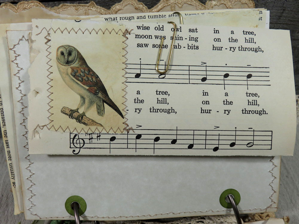 owl sheet music journal page