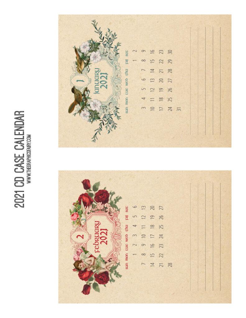January February 2021 Calendar Graphics Fairy