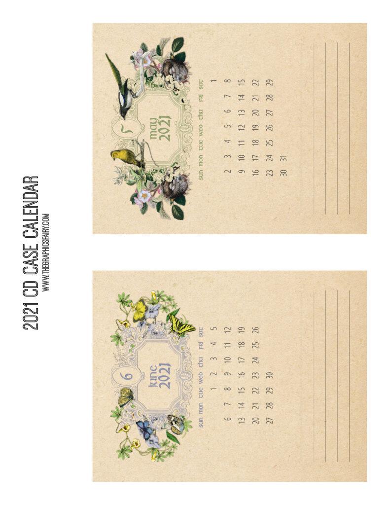 May June 2021 Calendar Graphics Fairy
