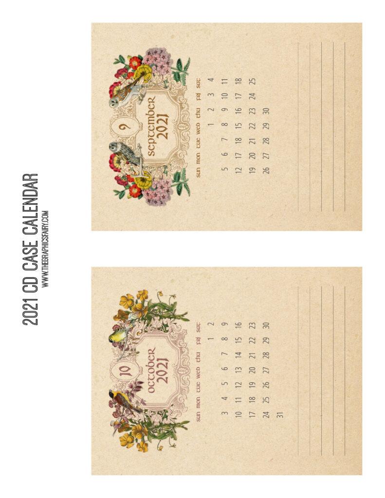 September October 2021 Calendar Graphics Fairy