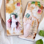 Christmas Watercolor French Tags