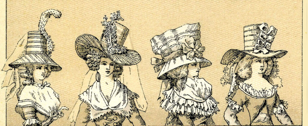 french ladies elaborate large hats image