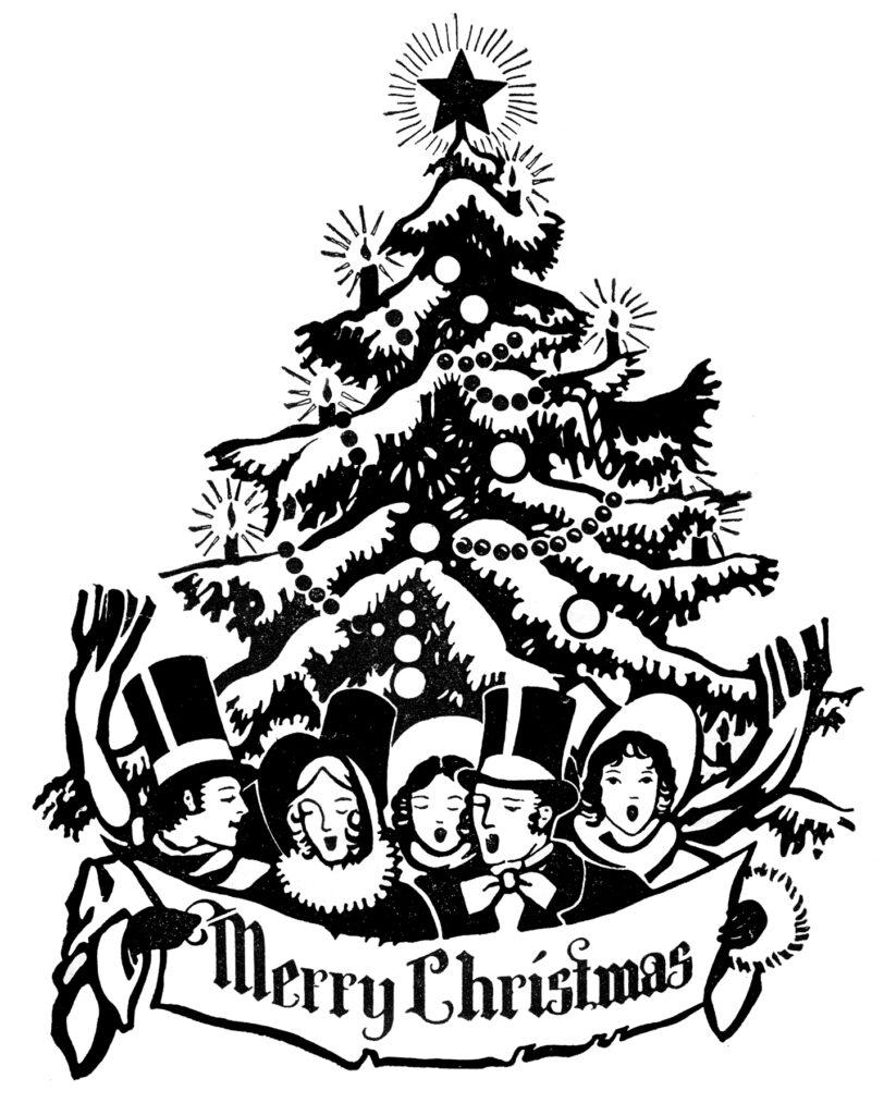 Retro Christmas Clipart Dickens