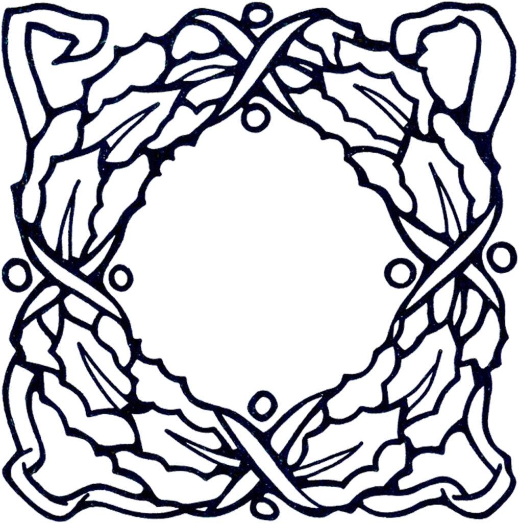 holly wreath clipart