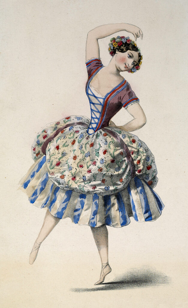 vintage dancer girl clipart