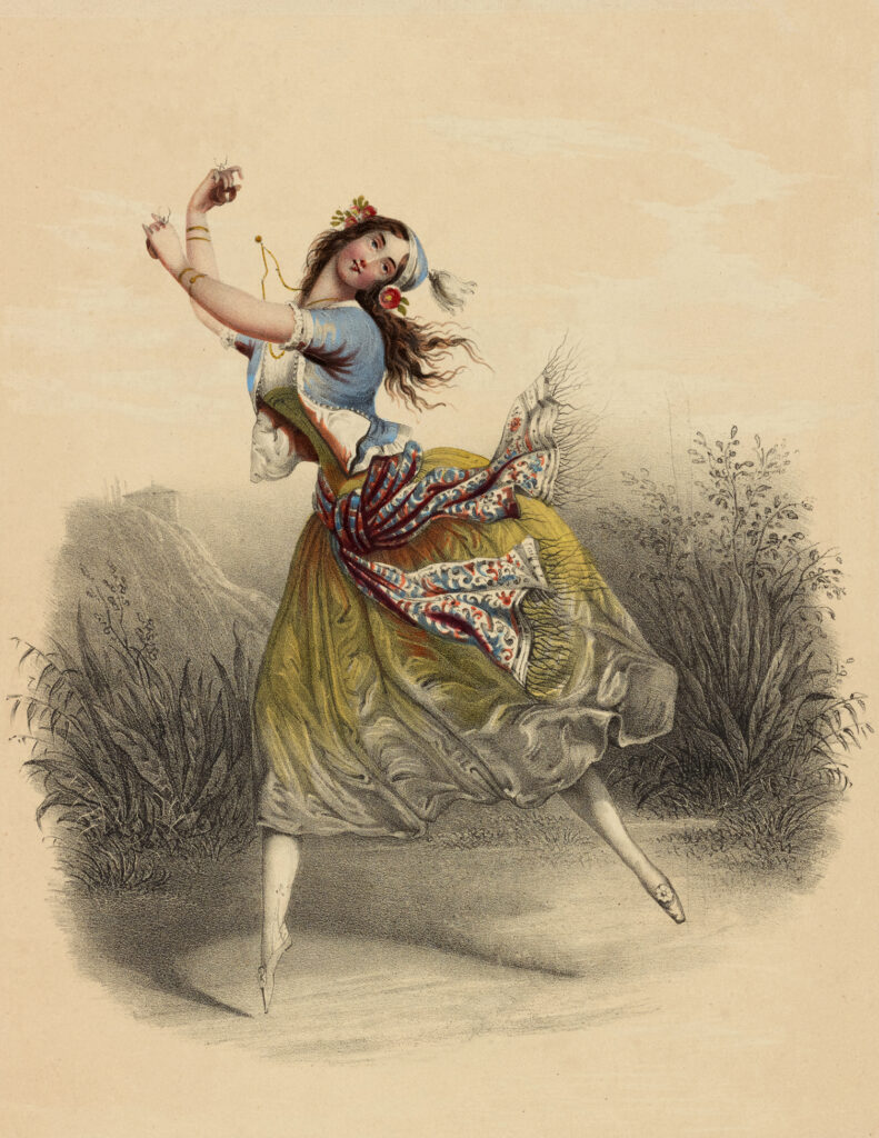vintage gypsy ballerina illustration