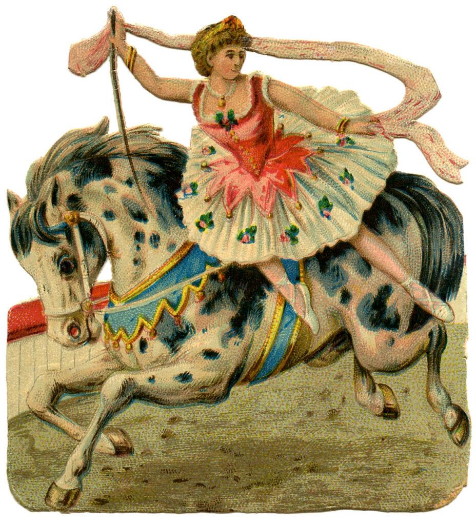 circus girl horse ballerina image