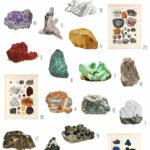 vintage crystals ephemera digital image bundle