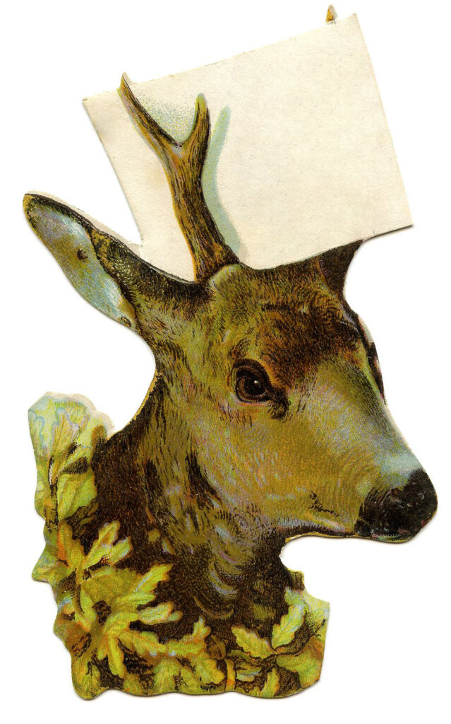deer head sign label image