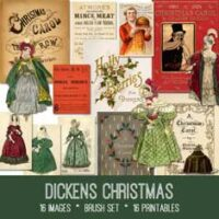 vintage Dickens Christmas ephemera bundle