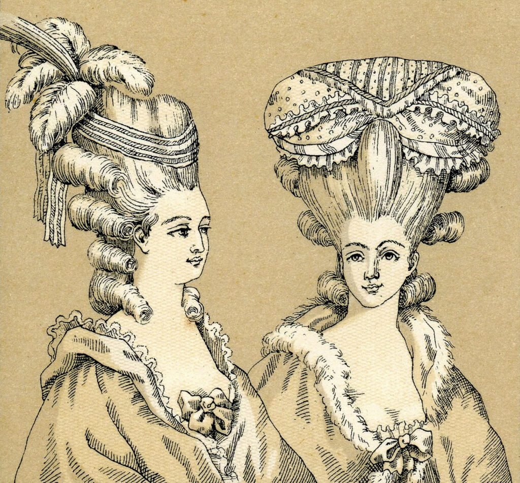 french lady elaborate hair style image