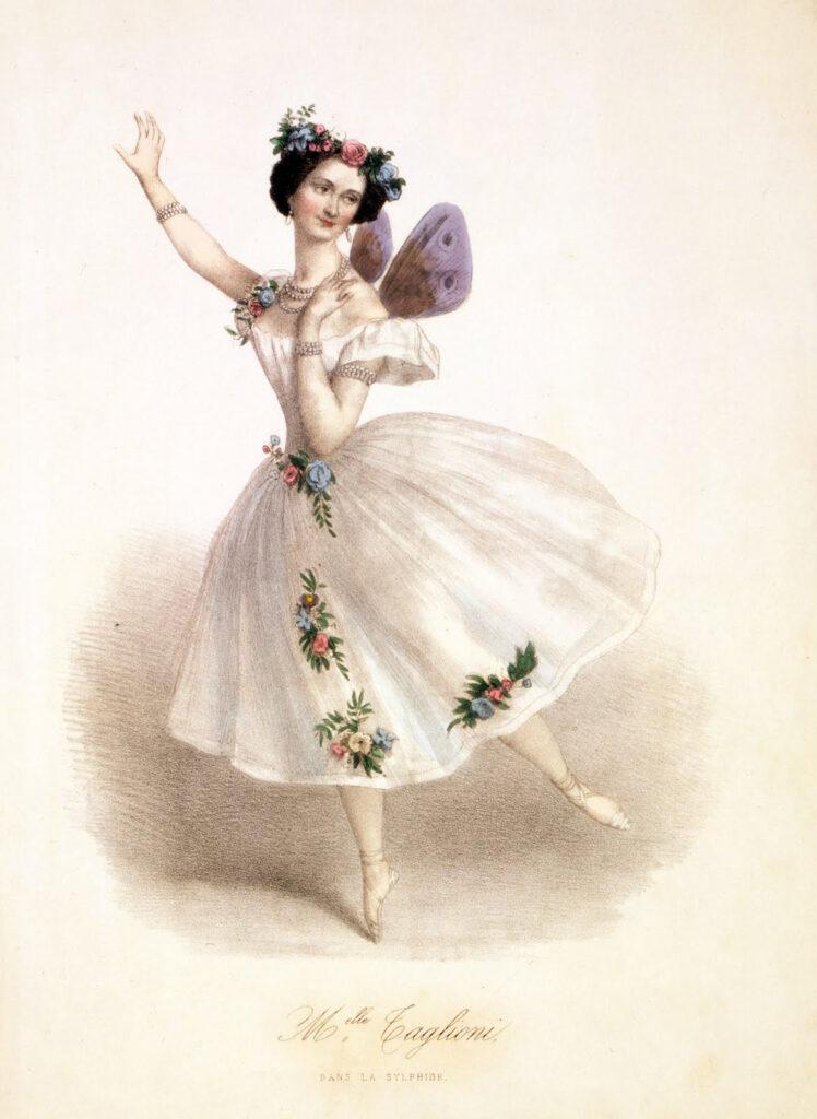 lovely ballerina wings illustration