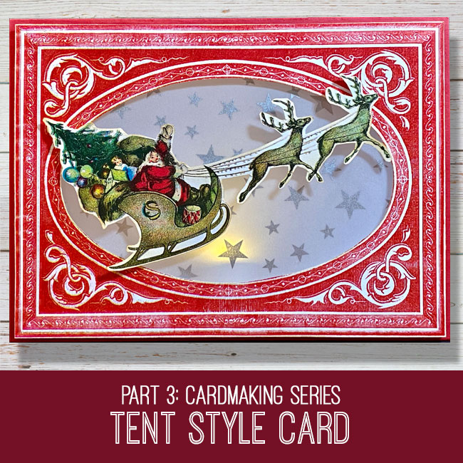 cardmaking series tent style holiday card tutorial
