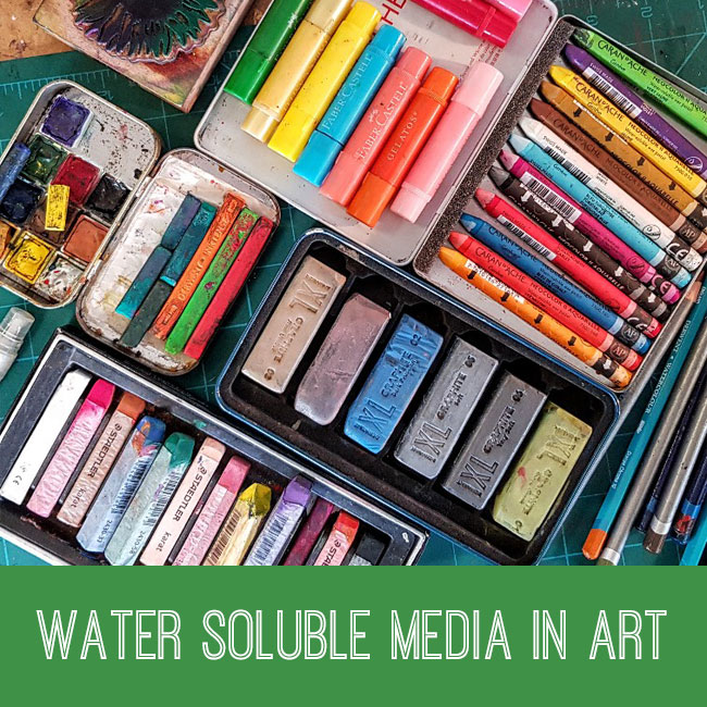 water soluble media in art tutorial