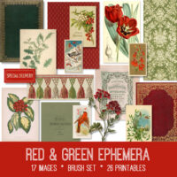red green ephemera kit