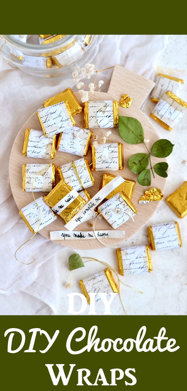 diy script chocolate wrappers with secret messages  the