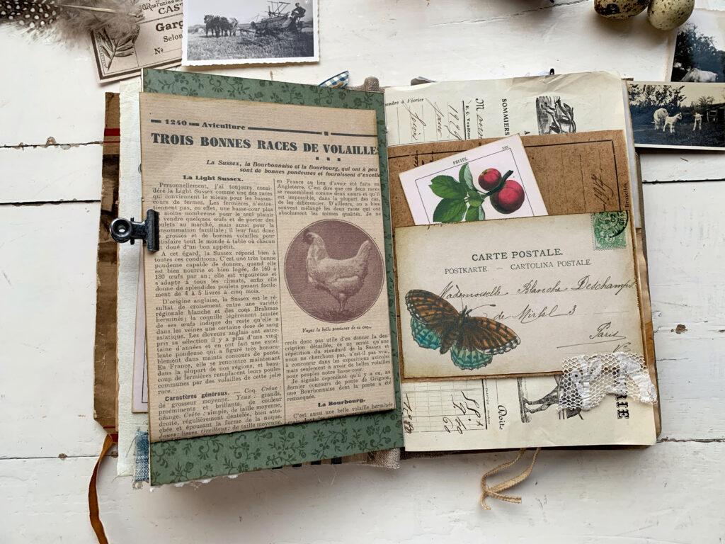 spring meadows endpapers journal page
