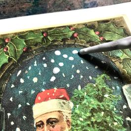 Snow effect on Santa