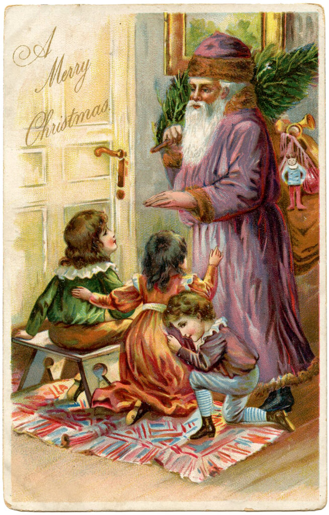 Purple Robe Santa Image