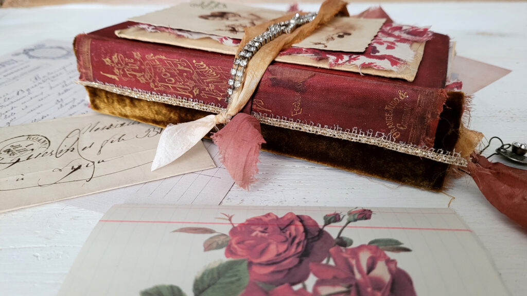 Ruby Red Junk Journal spine