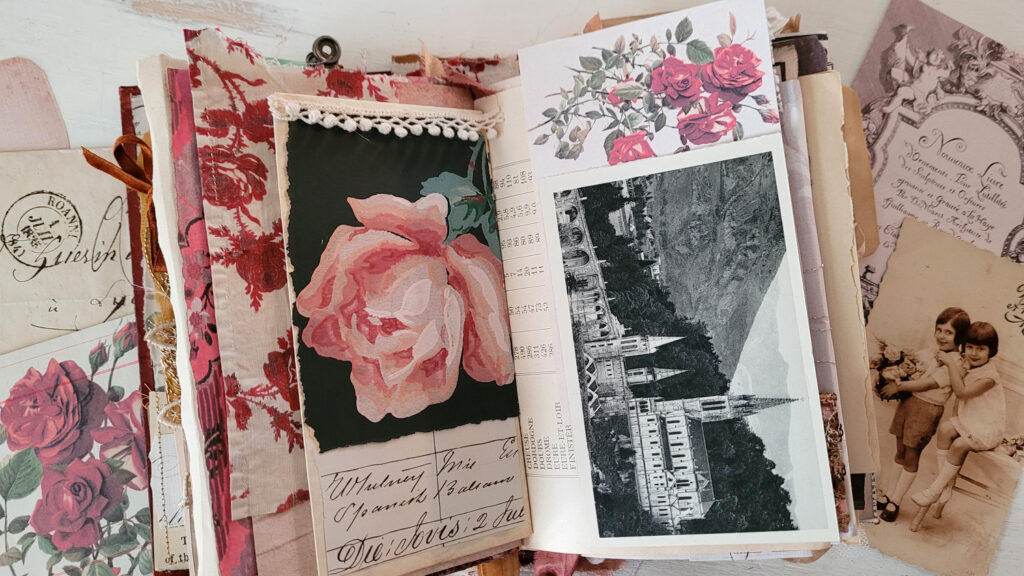 rose image journal page