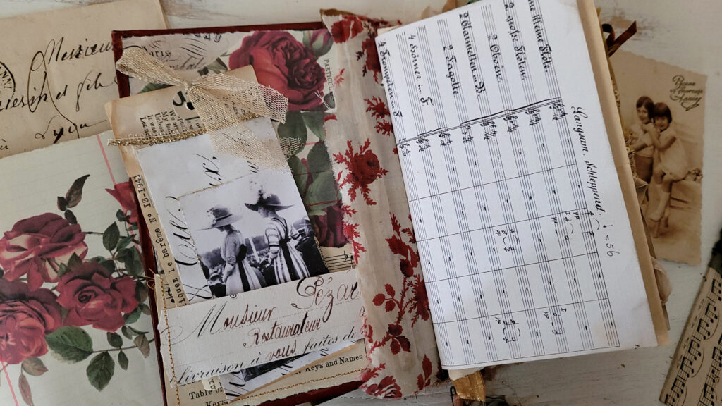 sheet music journal page