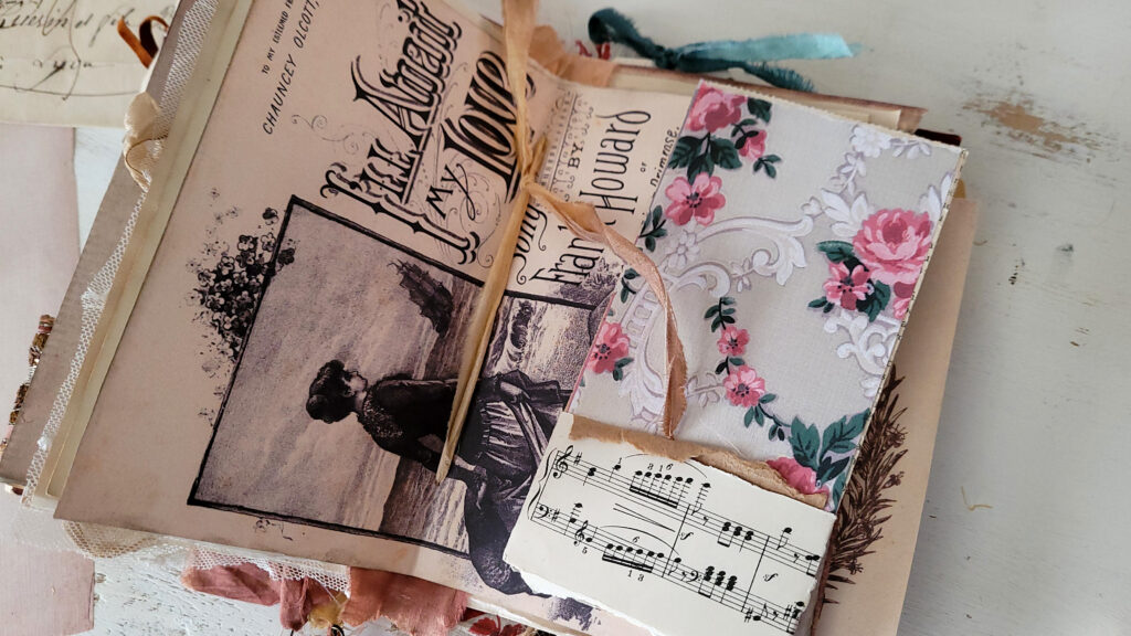vintage wallpaper journal page