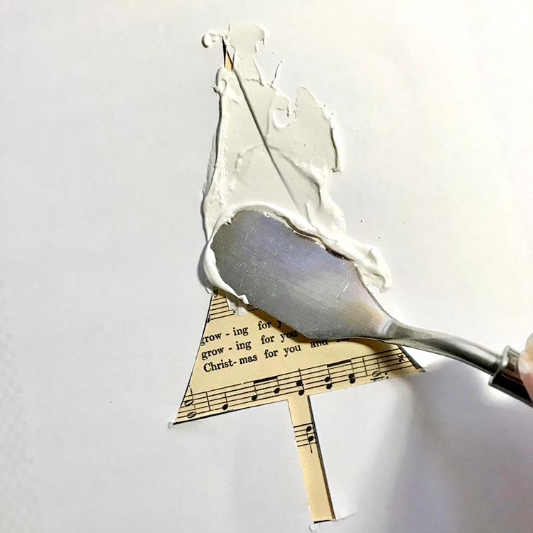 Spreading Texture Medium over Stencil