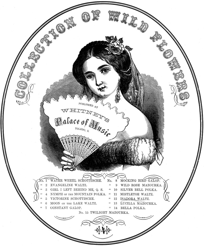 Victorian fan label advertising image