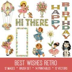 Best Wishes Retro Kit