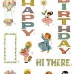 vintage best wishes retro ephemera bundle