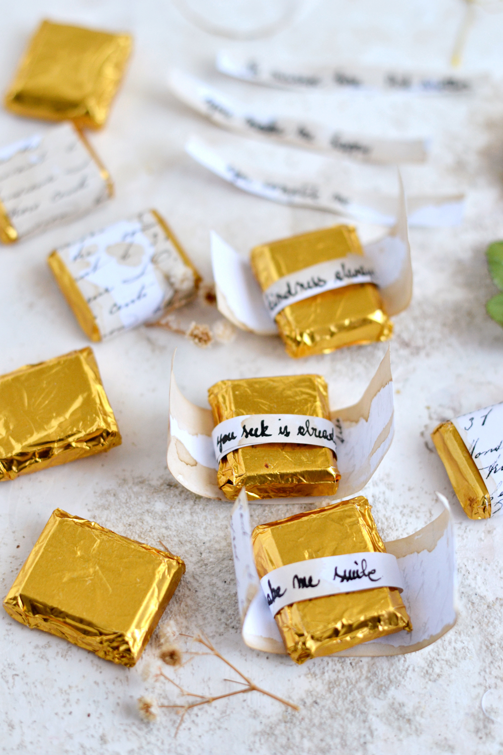 DIY Script Chocolate Wrappers