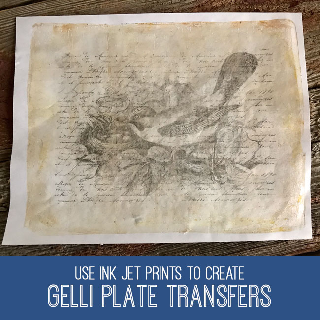 gelli plate transfers craft tutorial