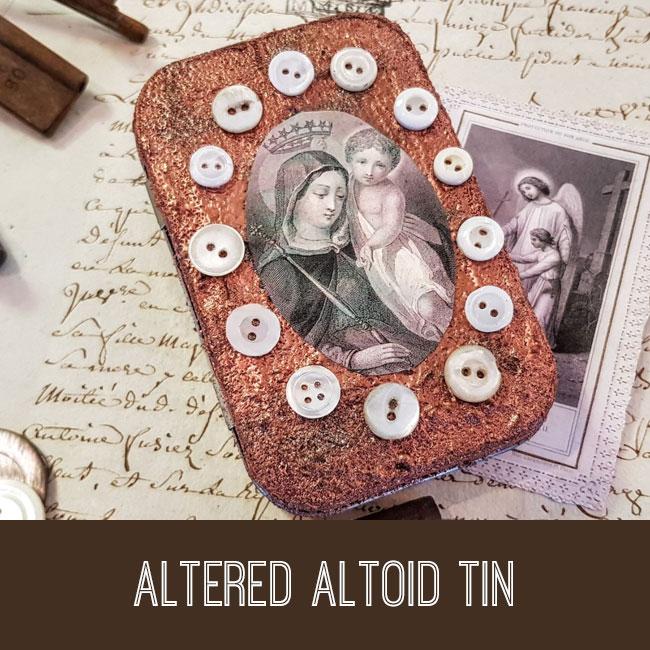 Altered Altoid tin craft tutorial