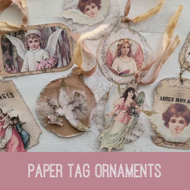 Paper tag ornaments tutorial