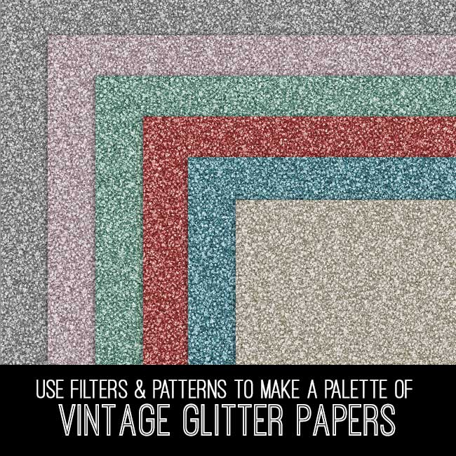 pse tutorial vintage glitter papers