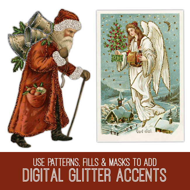 PSE tutorial digital glitter accents