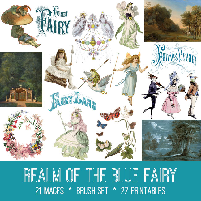 Realm of the Blue Fairy Vintage Digital