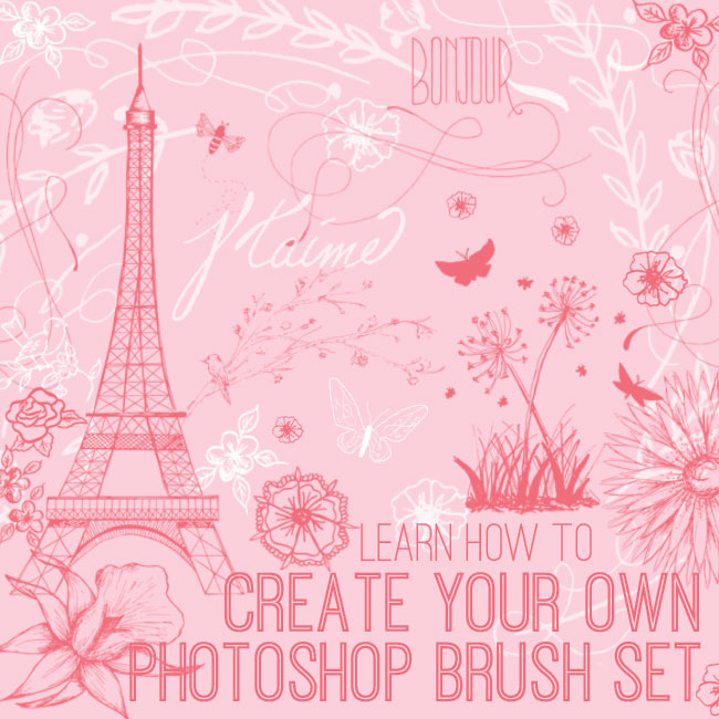 Create your own photoshop brush set PSE tutorial
