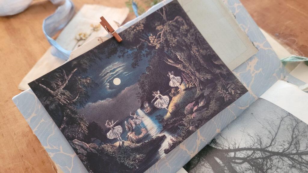 forest fairies journaling card