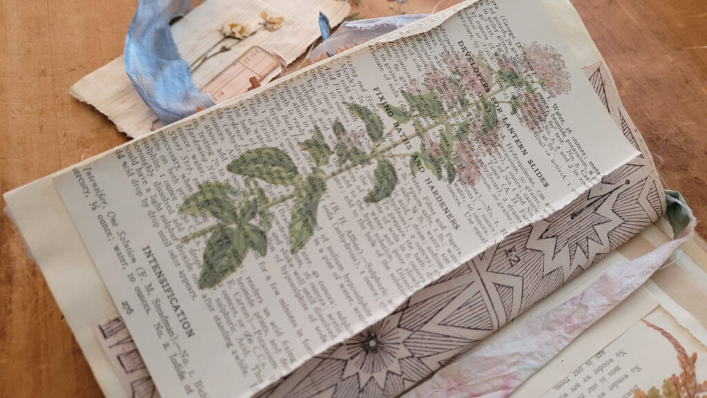 herbs double printed journal page