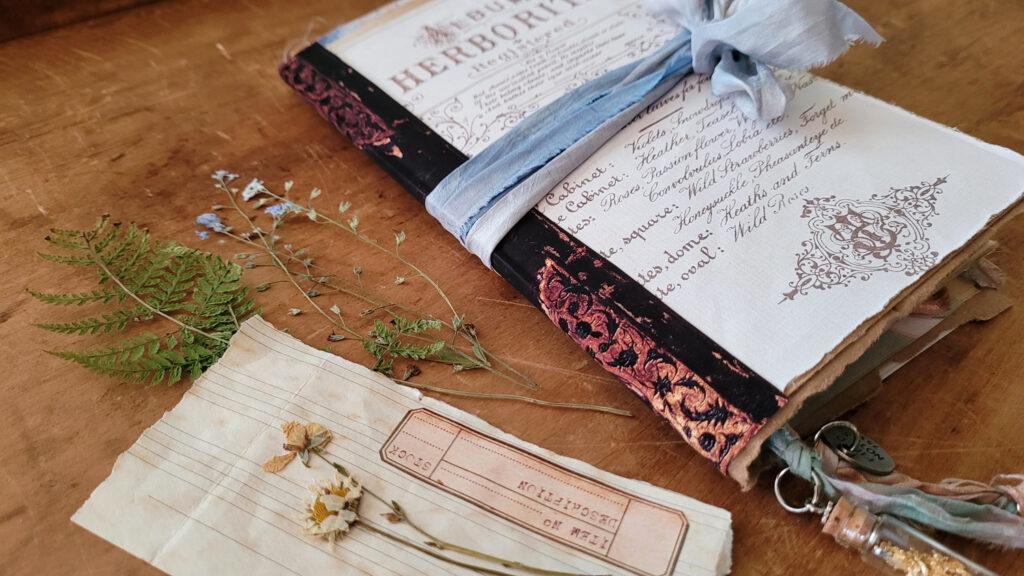 Botanist Junk Journal specimen card