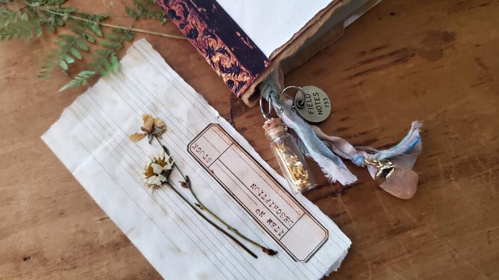 dried flower specimen card