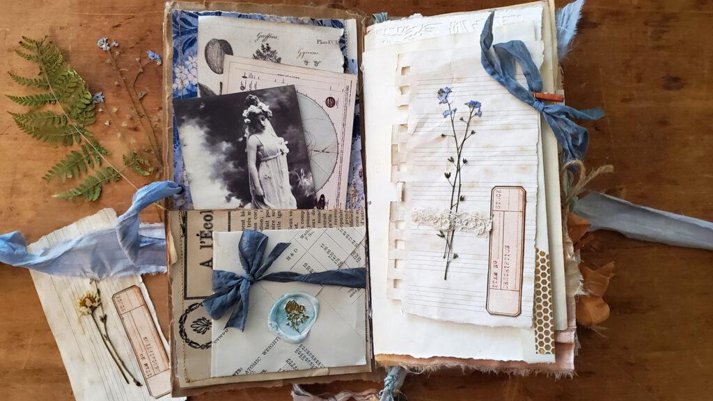 botanist junk journal page