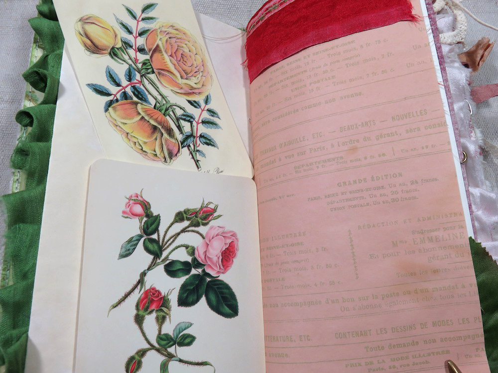 Rose ephemera junk journal page